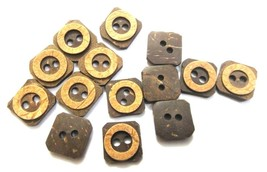 "2 SHADES 2 Holes COCONUT SHELL Button Sewing Scrapbook 16 mm (5/8th"") Si... - $2.34+"