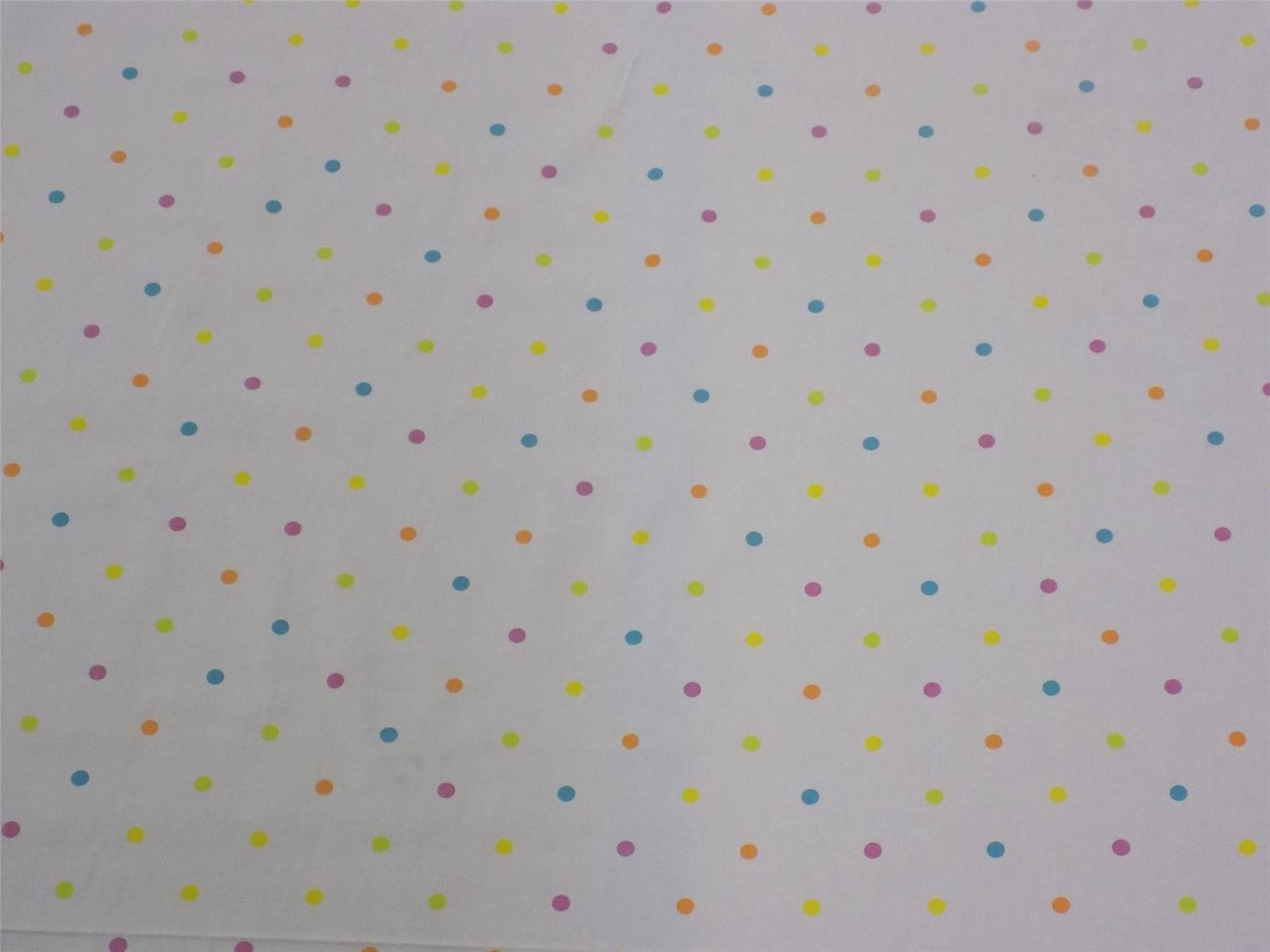 Spots and Dots White Orange Pink Cotton High Quality Fabric Material *3 Sizes*