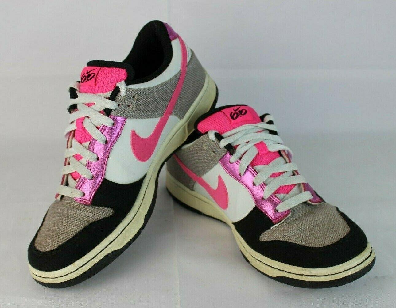 Nike 6.0 Damen Sneakers Retro Schuhe Mehrfarbig Leder Leinen Schnürsenkel Größe