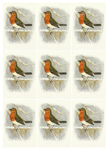 Printable Christmas Robin Digital Collage Sheet  ATC  JPEG  PDF  Instant... - $2.50
