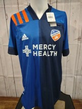 NWT Authentic Adidas FC Cincinnati Soccer Jersey Shirt $130 retail sz La... - $29.77