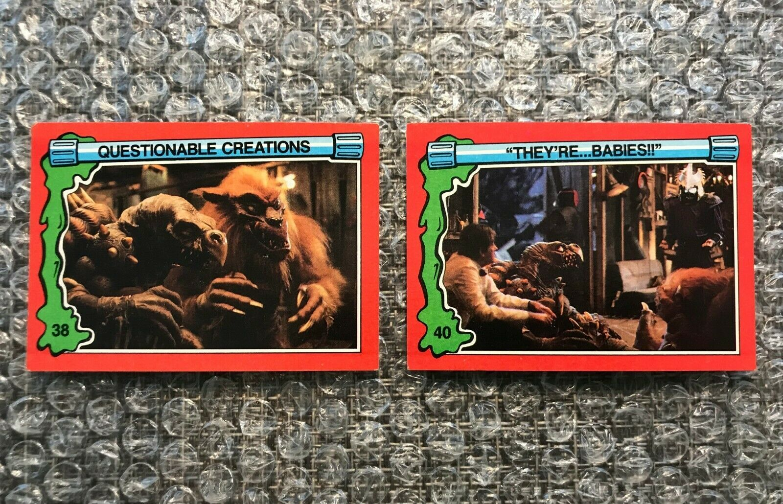 Primary image for 1991 Topps Teenage Mutant Ninja Turtles TMNT II Movie Cards Lot: #38 & #40