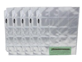 5 BCW Pro Poly 20 Pocket 3 Ring Binder Pages for 2x2 Coin Flips or Photo... - $5.49
