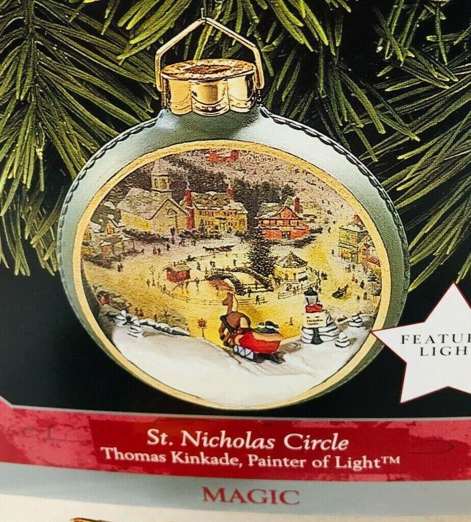 1998 St Nicholas Circle Kinkade Magic Hallmark Christmas Tree Ornament MIB Price image 3