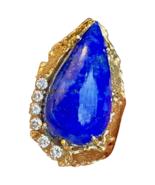 Vintage 1960s Retro 18k Gold George Weil Brutalist Modernist Diamond Lap... - $1,777.05
