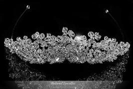 Madison Garden Cluster Silver Tiara | Swarovski Crystal - $149.95
