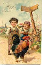An Easter Rooster  Paul Finkenrath of Berlin Post Card - $7.00