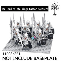 11pcs/set The Lord of the Rings Gondor Soldiers with Armor Spear Lego Minifigure - $20.99