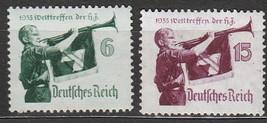 1935 World Jamboree Set of 2 Germany Postage Stamps Catalog Number 463-64 MNH