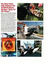 Mary Kate Olsen Ashley Olsen teen magazine pinup clipping Seaworld p;layground