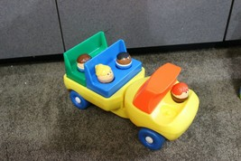 RARE Vtg Little Tikes Chunky People Toddle Tots Figures Flat Bed Bus sty... - $18.07