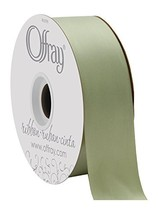 """Offray 1.5"""" Wide Double Face Satin Ribbon SpringMossGreen50Yds, 50 Yards... - $17.55"""