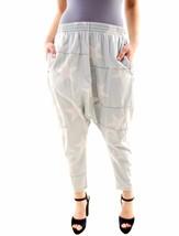 One Teaspoon Women's New Harem Star Print Pants Jeans Light Blue Size 26... - $68.95