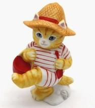 "Kitty Cucumber - J.P. Buster "" At The Beach "" 1987 Schmid 3.5"" HTF RARE figurine - $52.20"
