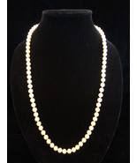 Vintage Marvella 27.5 Inch 7mm Light Beige Simulated Pearl Hidden Clasp ... - $27.99