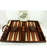 Vintage Backgammon Travel Set 1976 Traveling Game Road Trips USA made Lowe - $16.82