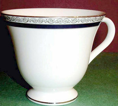 Wedgwood Seville Victoria Footed Tea Cup Platinum Banded Made in England... - $24.90
