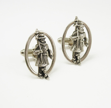 Vintage Beefeater Guards Cufflinks English Yeoman Warders St. Patrick's Day Busi - $75.00