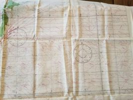 """Rare Vintage 36""""x26"""" Two Sided Western Pacific Cloth Nautical Map Asia China image 4"""