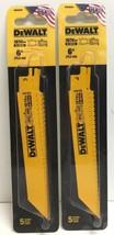 """(New) DeWalt DWA4845 10/14TPI 6"""" 5 pc Bi-Metal Reciprocating Saw Blades ... - $17.81"""