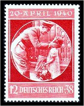 1940 Adolf Hitler Birthday Germany Postage Stamp Catalog Number B170 MNH