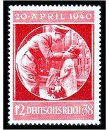 1940 Adolf Hitler Birthday Germany Postage Stamp Catalog Number B170 MNH - $16.95