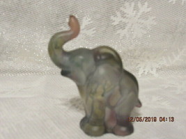 FENTON ART GLASS 1980'S RUEVEN COLLECTION FOR NOUVEAU CO.ELEPHANT FIGURINE - $125.00