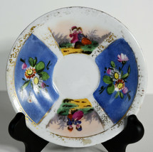 "4"" Vintage Hand Painted Gilt Ornate Porcelain Plate Floral European Motifs  - $18.99"