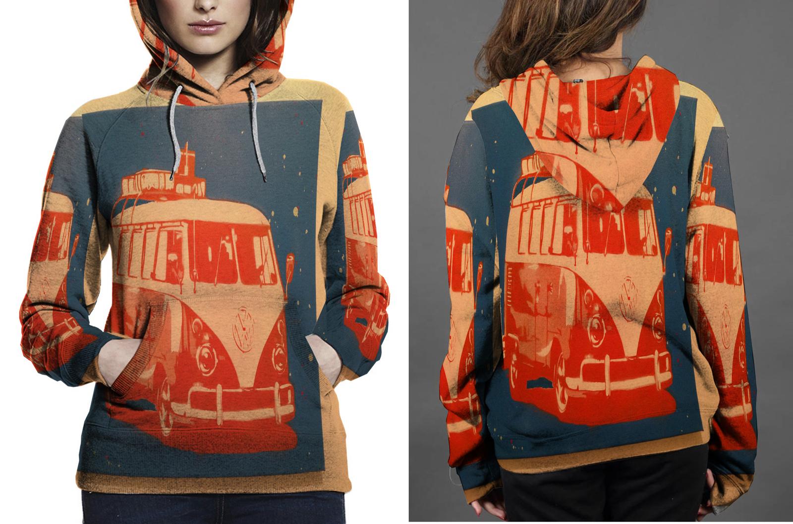 Vw camper van hoodie women s