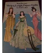 Vintage Vivian Leigh Paper Dolls Book Uncut Color 80s Tierney Booklet - $15.83