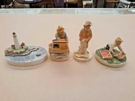 Lot of 4 Vintage Sebaston 2 Fisherman Lighthouse and Cranberry Picker - $17.30
