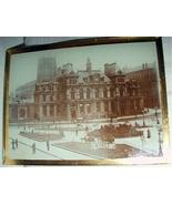 City Scene Photo Glass Negative Antique 1800  - $52.00