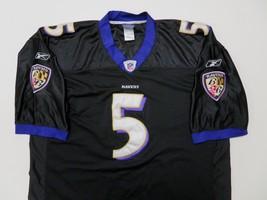 Reebok Joe Flacco Baltimore Ravens #5 Jersey Sz 56 Black Sewn Nylon - €39,93 EUR