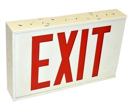 NEW EMERGI-LITE WX14R DUAL SIDED LIGHTED EXIT SIGN FIXTURE 120 VAC - $29.99