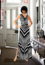Custom Made Maxi Strip Dress Made To Measurement XXS-XL - $120.00