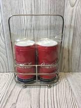 Vtg Coca Cola Advertising Salt & Pepper Shakers W/holder Rack NIP New Coke - $9.89