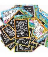 XUES® 6PCS/Set 13x9.5cm Color Scratch Art Coloring Card Paper Scraping G... - $1.15
