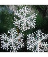 Christmas Snowflake Ornaments 30pcs Decor White Tree Party Home Xmas Hol... - $4.99