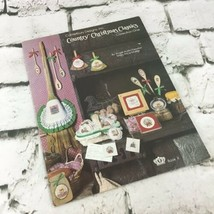 Country Christmas Classics Cross Stitch Pattern Book Leaflet Vintage 1982 - $9.89