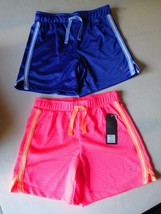 SHORTS 2 Pair Girls OLD NAVY ACTIVE Flors Orange & Royal Blue Size 8M NW... - $19.49