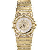 Omega Constellation 18K Yellow Gold Diamond 22.5mm Quartz MoP Watch 1167.75.00 - $12,993.21