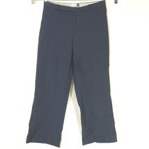 Gap Cropped Dress Pants Career Women Size 8 Blue Wool Blend Wide Leg Str... - $14.84