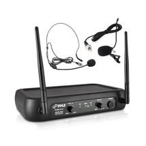 Pyle PDWM2145 VHF Wireless Microphone System 2 Headset/Lavalier Mics Tra... - $41.14