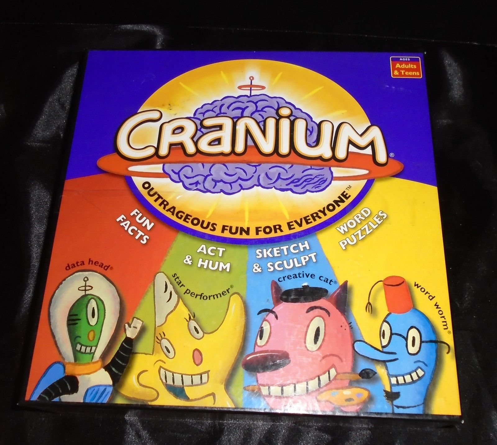 Cranium Outrageous Fun For Everyone Board Game 2004