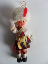 """VTG. 4"""" PLASTIC DOLL/ORNAMENT WITH JOINTED ARMS - $15.42"""