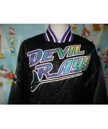 Vintage 90's Tampa Bay Devil Rays Satin Starter Bomber Jacket XL  - $197.99