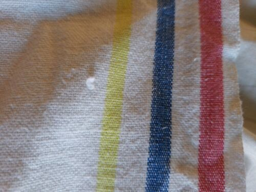 "Vintage Startex Striped Dish Kitchen Tea Towel Red Blue Yellow Stripes 14"" x 25"" image 8"