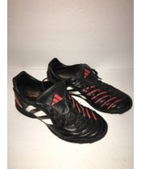 Adidas Unisex Cleats Soccer Shoes Black/Red-SPG 753001 Sz 6-SHIPS WITHIN... - $17.34