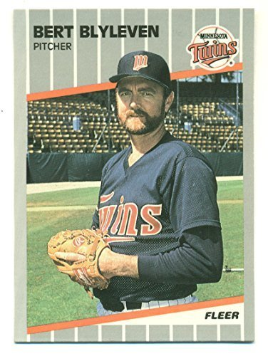 Lot of 5 1989 Fleer Glossy Bert Blyleven - Minnesota Twins - Baseball Cards