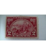 Landing at Fort Orange Carmine Rose Vintage USA Mint Hinged 2 Cent Stamp - $8.73